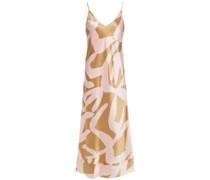Bella Slip Dress aus Seidensatin mit Print