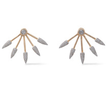 Five Spike 18-karat  Diamond Earrings