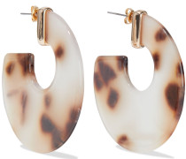 Gold-plated Tortoiseshell Lucite Earrings