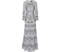 Embellished Chiffon Gown Himmelblau