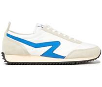 Sneakers aus Veloursleder und Shell mit Lederbesatz