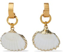 24 Kt. Vergoldete Ohrringe mit Kunstmuscheln