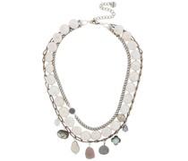 Silver-tone Multi-stone Necklace