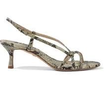 Judy Faux Snake-effect Leather Slingback Sandals