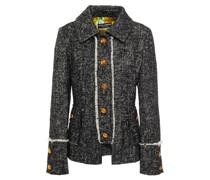 Frayed Button-embellished Bouclé-tweed Jacket