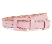 Studded Leather Waist Belt Pink