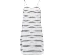 Jupiter paneled crepe mini dress