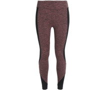 Mélange stretch-jersey leggings
