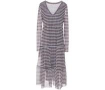 Julianne Tiered Printed Mesh Midi Dress