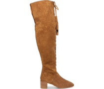 Harris embellished suede over-the-knee boots