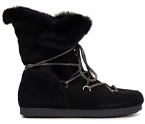 Far Side High Lace-up Shearling-trimmed Suede Snow Boots