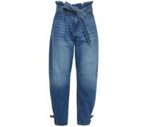 Addie Belted Faded Boyfriend Jeans