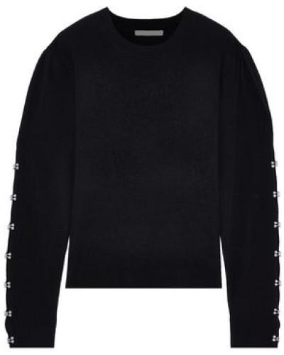 Embellished Wool-blend Sweater Black