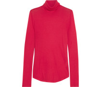 Tencel And Cashmere-blend Turtleneck Sweater Signalrot