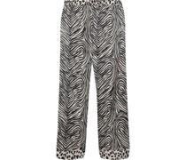 Maggie Twisting Pyjama-hose aus Satin aus Einer Seidenmischung mit Print