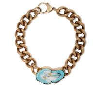 Burnished Gold-plated Enamel Bracelet