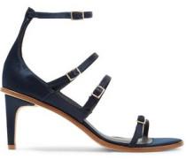 Isabel buckled satin sandals