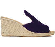 Hamptons Velvet Wedge Espadrille Sandals