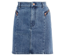 Lillian Faded Denim Mini Skirt