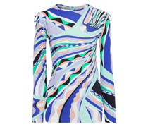 Ruched Printed Jersey Top