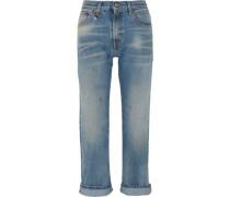 Bowie distressed low-rise slim boyfriend jeans