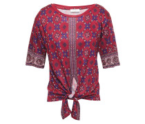 Lamaar Knotted Printed Jersey Top