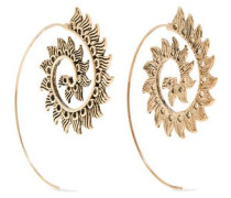 Burnished gold-tone earrings
