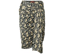 Ruched Draped Paisley-print Stretch-jersey Skirt