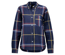 Thom Checked Cotton Shirt Mitternachtsblau