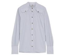 Maisy Striped Cotton-blend Poplin Shirt