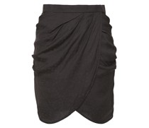 Reifer Wrap-effect Satin-jacquard Mini Skirt