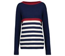 Dear John Breton Ribbed Striped Cotton Sweater Mitternachtsblau