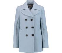Textured-crepe Coat Himmelblau