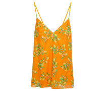 Olivia Printed Cotton And Silk-blend Jacquard Camisole