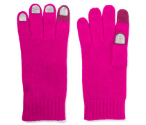 Wild Thing Foiled Merino Wool Gloves Pink
