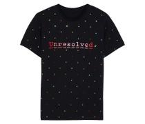 + Peter Saville Embellished Printed Cotton-jersey T-shirt