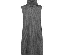 Ribbed-knit Turtleneck Sweater Grau