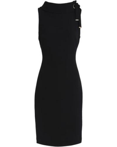 Tie-detailed Crepe Dress Black