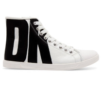 Brave Appliquéd Leather High-top Sneakers Weiß