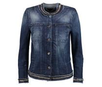 Embellished Stretch-denim Jacket Mitternachtsblau