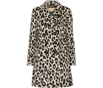 Plaistow Leopard-print Llama Hair And Wool-blend Trench Coat Leoparden-Print