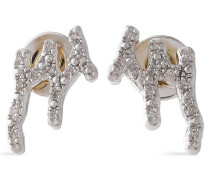 Riva Waterfall Sterling  Diamond Earrings