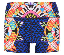 Printed Stretch-jersey Shorts Indigo