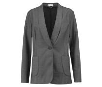 Wool-blend Blazer Grau