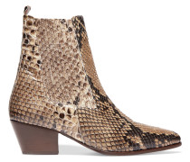 Anouck Snake-print Leather Ankle Boots Schlangen-Print