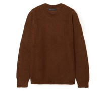 Oversized Ribbed Mohair-blend Sweater