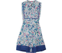 Tilly printed silk crepe de chine mini dress