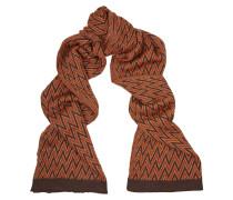Metallic Wool-blend Scarf Burgunder