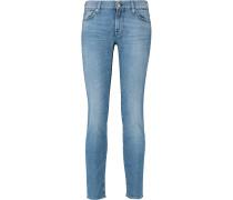 Roxanne Crop Mid-rise Slim-leg Jeans Mittelblauer Denim