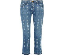 The Cropped Straight mid-rise straight-leg jeans